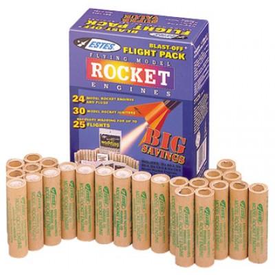 Estes Blast Off Flight Pack Model Rocket Engines (24 pack)