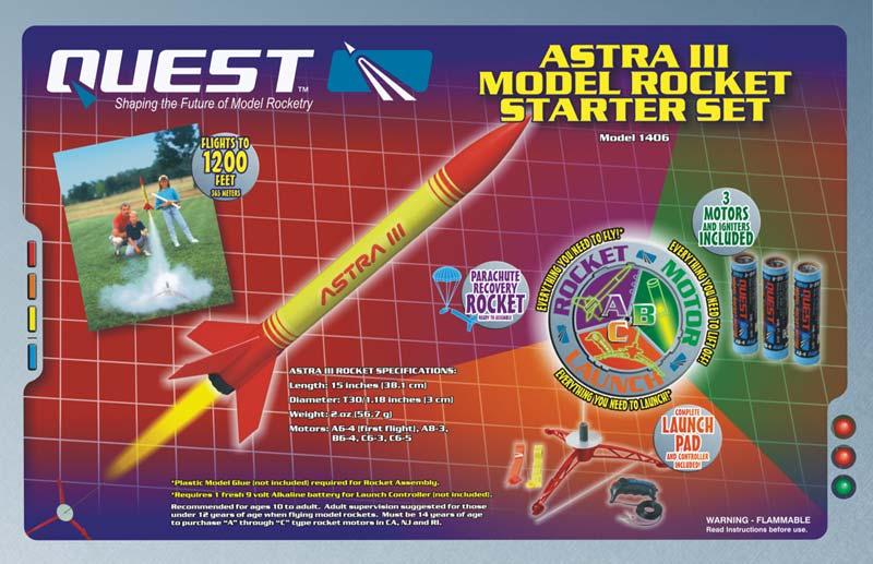 Quest Astra III Model Rocket Starter Set